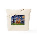 Starry / Rhodesian Ridgeback Tote Bag