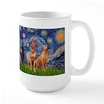 Starry / Rhodesian Ridgeback Large Mug