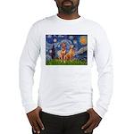 Starry / Rhodesian Ridgeback Long Sleeve T-Shirt