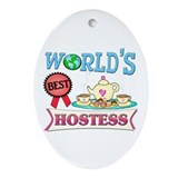 Best Hostess Gift Oval Ornament