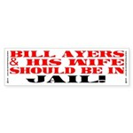 BILL AYERS SHOULD BE IN JAIL! Bumper Sticker