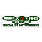 Socialist Networking Bumper Car Sticker