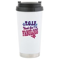 T.G.I.F Ceramic Travel Mug