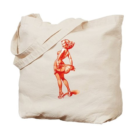 Vintage Pin Up Girl Tote Bag