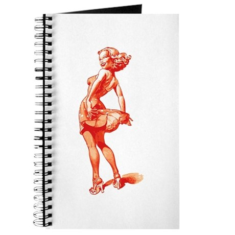 Vintage Pin Up Girl Journal