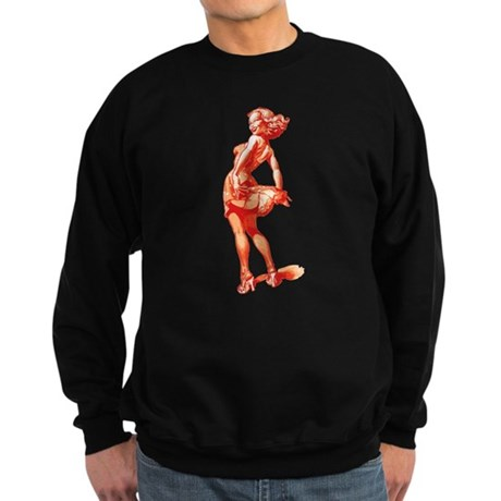 Vintage Pin Up Girl Dark Sweatshirt