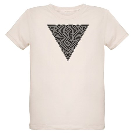 Charcoal Triangle Knot Organic Kids T-Shirt