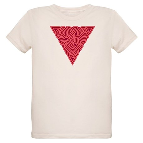 Pink Triangle Knot Organic Kids T-Shirt