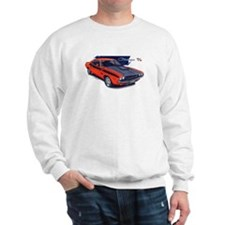 Dodge Challenger Orange Car Sweatshirt