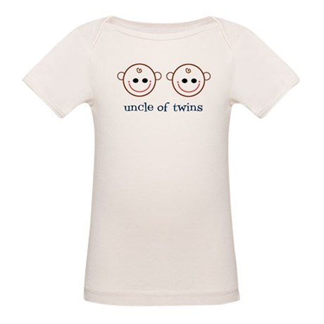 Uncle of Twins Organic Baby T-Shirt