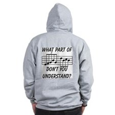 What Part Of Musical Notation Zip Hoody