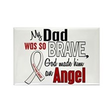Angel 1 DAD Lung Cancer Rectangle Magnet