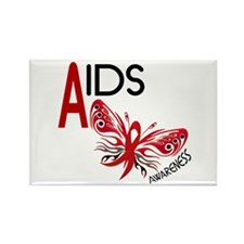 Butterfly 3 AIDS AWARENESS Rectangle Magnet