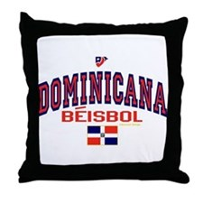 Dominicana Baseball Beisbol Throw Pillow