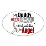 Angel 1 DADDY Lung Cancer Oval  Aufkleber