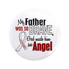 "Angel 1 FATHER Lung Cancer 3.5"" Button"