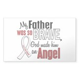 Angel 1 FATHER Lung Cancer Rectangle Decal
