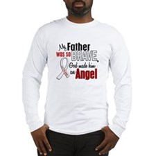 Angel 1 FATHER Lung Cancer Long Sleeve T-Shirt