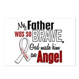 Angel 1 FATHER Lung Cancer Postcards (Package of 8
