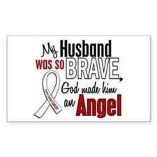Angel 1 HUSBAND Lung Cancer Rectangle Decal