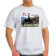 Real Women Ride Mules T-Shirt