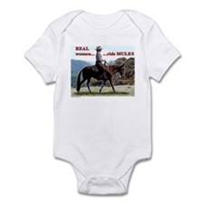 Real Women Ride Mules Infant Bodysuit