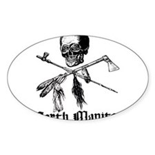 North Manitou Pirate Oval Decal