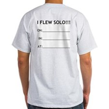 """I FLEW SOLO!!!"" Ash Grey T-Shirt"