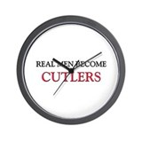 Real Men Become Cutlers Wall Clock