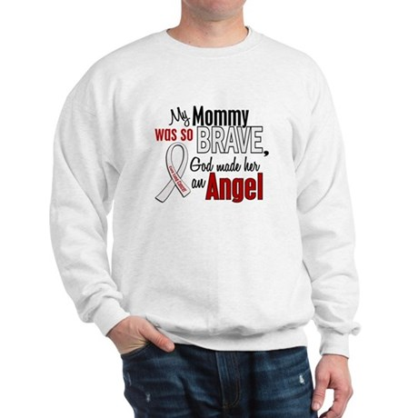 Angel 1 MOMMY Lung Cancer Sweatshirt