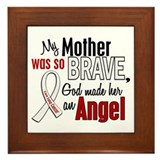 Angel 1 MOTHER Lung Cancer Framed Tile
