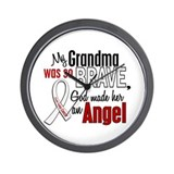 Angel 1 GRANDMA Lung Cancer Wall Clock