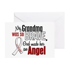 Angel 1 GRANDMA Lung Cancer Greeting Card