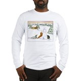 Longhaired Snow Dachshunds Long Sleeve T-Shirt