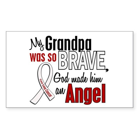 Angel 1 GRANDPA Lung Cancer Rectangle Sticker