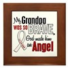 Angel 1 GRANDPA Lung Cancer Framed Tile