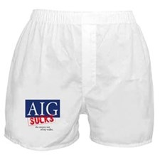 AIG Sucks Boxer Shorts