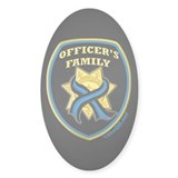 ThinBlueLine Officer's Family Oval Decal