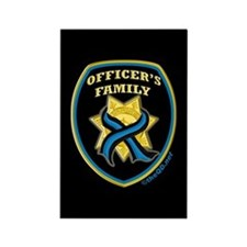 ThinBlueLine Officer's Family Rectangle Magnet (10