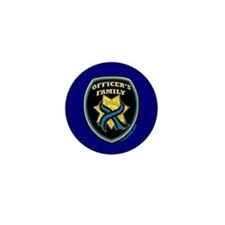 ThinBlueLine Officer's Family Mini Button