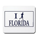 Men's I Run Florida Mousepad