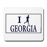 Men's I Run Georgia Mousepad