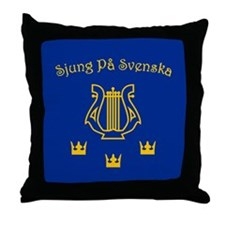 Sjung pa Svenska Throw Pillow