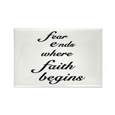 Faith Begins Rectangle Magnet (10 pack)