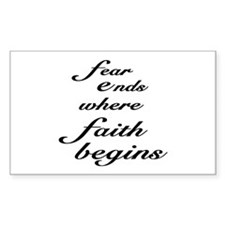 Faith Begins Rectangle Decal
