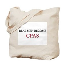 Real Men Become Cpas Tote Bag