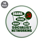 Socialist Networking 3.5&quot; Button (10 pack)