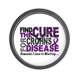 Find The Cure 1 CROHNS Wall Clock
