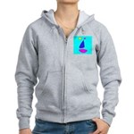 Sailing Sailboat Women's Zip Hoodie Sweatshirt