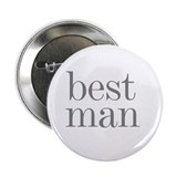 Best Man Grey Text Button